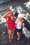 Nami Carrot Whole Cake Island One Piece Cosplay by firecloak