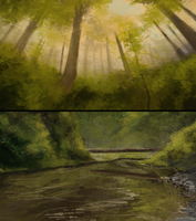 forest speedpaints by ClimbToTheStars