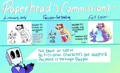 PH commissions by ThePaperhead
