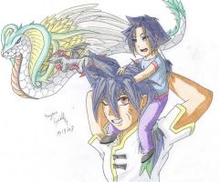 Brother and sister by Seto01