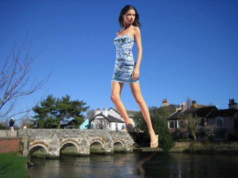 Adriana on a Bridge by Accasbel