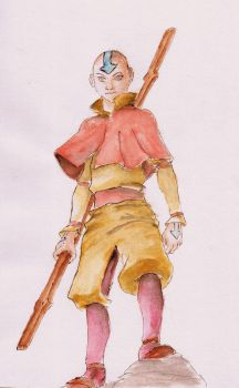Aang by red-haired-girl