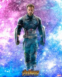 Textless Poster: Captain America | Infinity War by 4n4rkyX