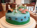 Ghibli Inspired Cake- View 2 by death2fangirlz