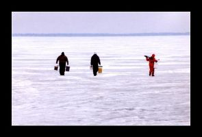 Ice Fishing by MichelleMarie
