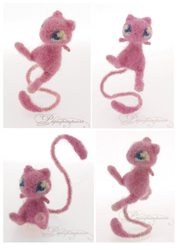 Miniature Mew - Needle fleting by Piquipauparro