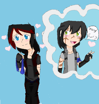 maixals oc:human nighfury and thundersnow (done) by Coolgirl1314