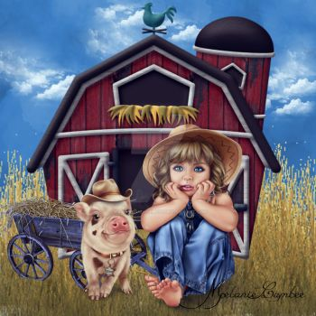 Old Little Farm Girl by paranormallily32