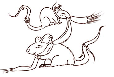 Rat Lineart by mouseyshawn