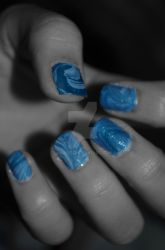 Water Marble (left) by dideidei