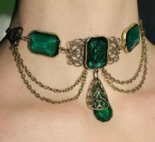 Royal green necklace 2 by Pinkabsinthe