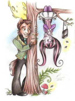 Claude and Draculaura: Walk Under the Moon by Anastasia1995art