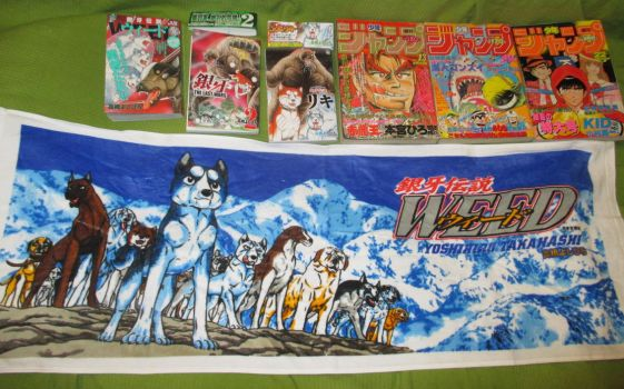 WEED sports towel, Shounen Jumps and some mangas by methpring