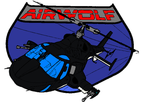 AIRWOLF prodoction logo by bagera3005