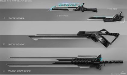 Weapon Design/Concept Art by nobody00000000
