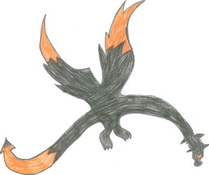Black And Orange Dragon by XTomWasNotHereX