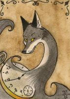The spirit of time- ACEO by FoxInShadow