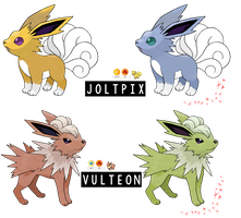 Pokemon Fusion Phtoshop~Joltpix And Vulteon~ by Xbox-DS-Gameboy