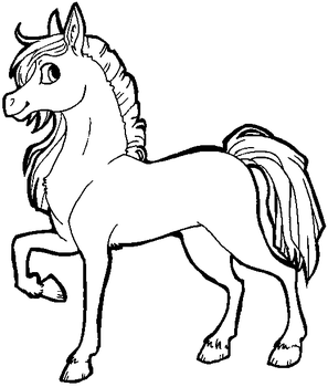 Free Horse Lineart [MS Paint Friendly] by xSitax
