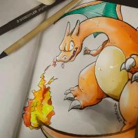 Charizard (Colors) by tsunami-dono