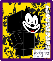 Felix the Cat Cubeecraft by angelyques