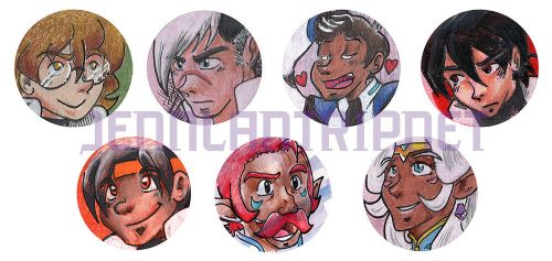 Voltron Buttons! by ladylaguna