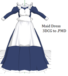 MMD- Large Maid Dress -DL by MMDFakewings18