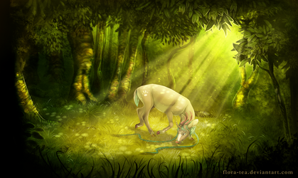 Graze in the Glade (psd file available!) by Flora-Tea