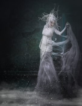 Woman in white by Emerald2010