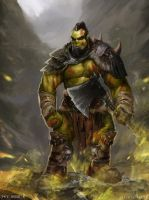 Orc Warrior (Commission) by Jackiefelixart