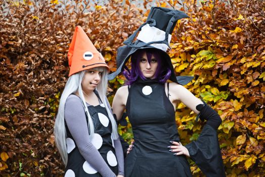Soul Eater - Eruka and Blair by Panda-Nono