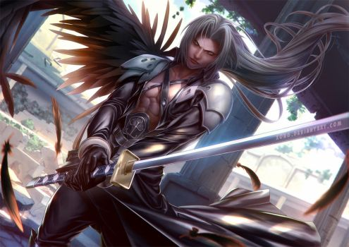 Sephiroth Commission by xong