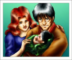 A Potter Family Moment by art-hobbit