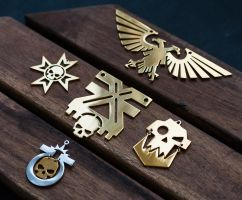 Warhammer40k Golden Collection Pendants by Snoopyc