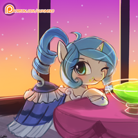 (Speed Paint) Opuscule Antiquity at the Gala by luminaura