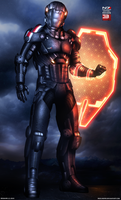 Mass Effect 3 N7 Paladin V2 (2013) by RedLineR91