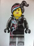 Lego Movie WYLDSTYLE drawing/ watercolour painting