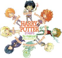 harry potter stamps :: by makiyan