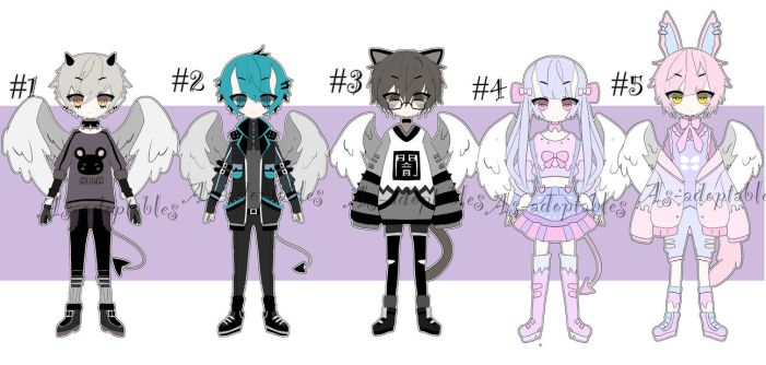 kemonomimi angel adoptables open by AS-Adoptables