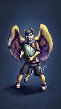 Young Opinicus- by Andalar by Foldo