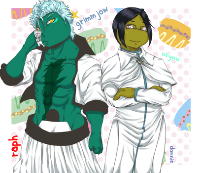 Grimmjow and Uryuu by KameBoxer