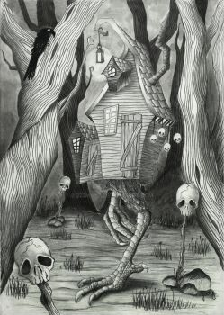Baba Yaga's hut by 222maya