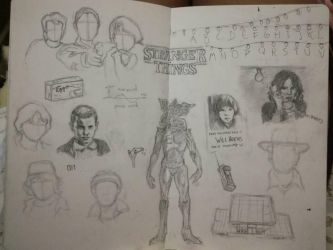 wip of a stranger things drawing by FatimaSeg