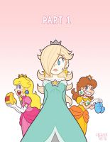 The 3 Little Princesses, title page by TheBourgyman