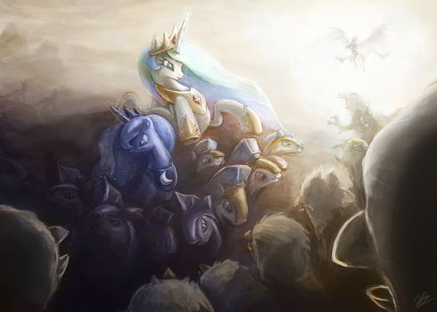 First Contact War, Griffons by AssasinMonkey