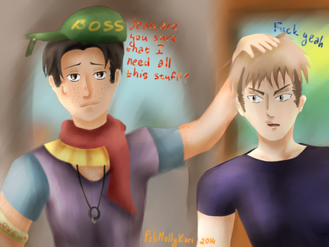 Jean and Marco In The Shopping Mall by PoliMollyKari