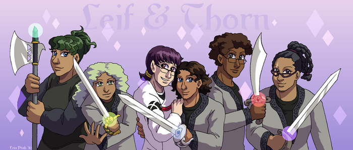 Gay Knights With Magic Swords by ErinPtah