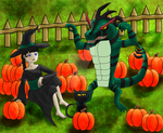 In The Pumpkin Patch - Chamiko by EstelleDusk