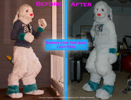 Fursuit Updates Complete: Before and After by Ice-Artz