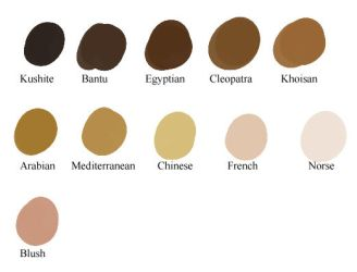 Skin Tones for Clip Studio Paint by TyrannoNinja